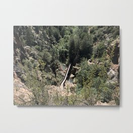 Above the Bridge Metal Print