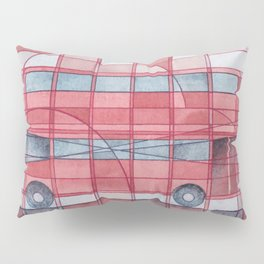London - Double Decker Red Bus Pillow Sham