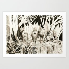 Friends with Monsters Art Print