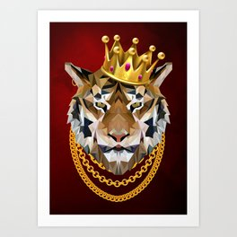 The King of Tigers Art Print