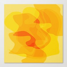 Orange Abstract Shapes Canvas Print