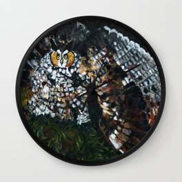 Perceval the Owl Wall Clock