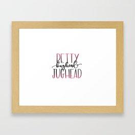 Betty and Jughead Bughead Framed Art Print