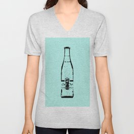 """Blue """"Chill Out"""" Sparkling Water Print Unisex V-Neck"""