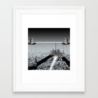 architect Framed Art Prints featuring Architect by Mand'Ine Wonderland