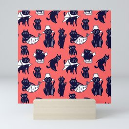 funny cats Mini Art Print