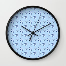 spiral 38- blue Wall Clock