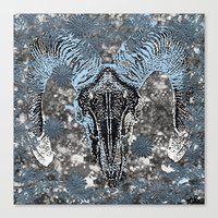 ram Canvas Prints featuring Ram by Saundra Myles