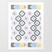kilim Art Prints featuring Kilim Print by Wayward Broad Studio