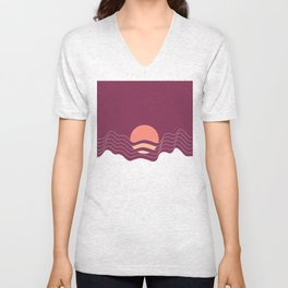 Sunrise in the Mountains Unisex V-Neck