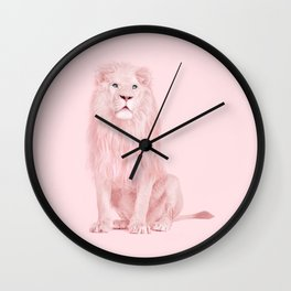 ALBINO LION Wall Clock