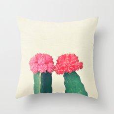 Plaid Cacti Throw Pillow