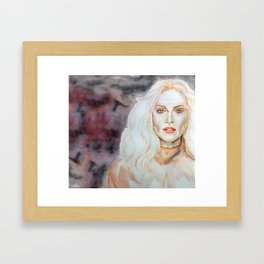 Julianne Moore Purple Framed Art Print