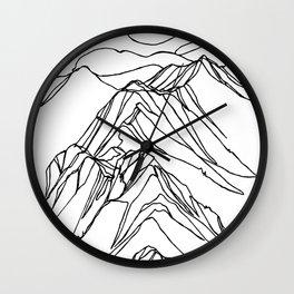 Ymir Mountain Ridges :: Single Line Wall Clock
