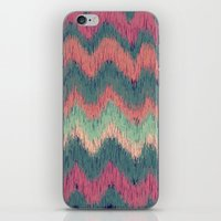 ikat iPhone & iPod Skins featuring IKAT CHEVRON by Nika