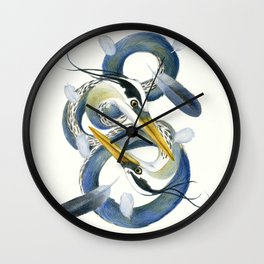 A Couple Of Herons Wall Clock