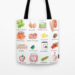 Grocery shopping list Tote Bag