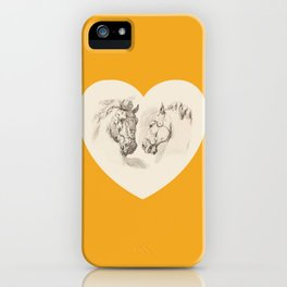 I LOVE HORSES - Saffron  iPhone Case