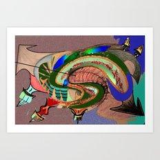 GMO Tadpole Art Print