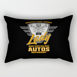 Female Auto Mechanic And truck Mechanic Gift Idea Rectangular Pillow