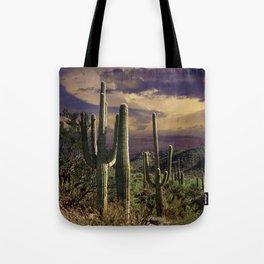 Saguaro Cactuses in Saguaro National Park Tote Bag