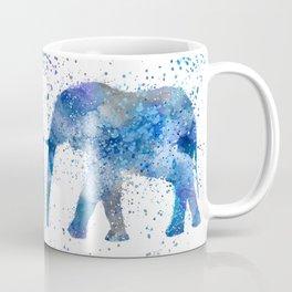 Blue Watercolor Elephant Coffee Mug