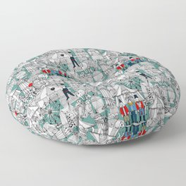retro circus Floor Pillow