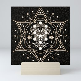 Kabbalah The Tree of Life Sacred Geometry Ornament Mini Art Print