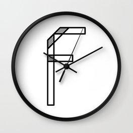 Letter F Wall Clock