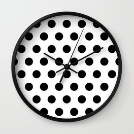 Polka Dots Black & white Wall Clock