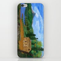 cabin iPhone & iPod Skins featuring Old cabin by maggs326
