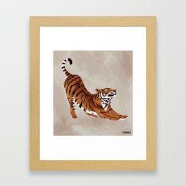 Tiger Stretch Framed Art Print