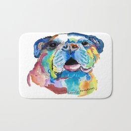 Blissful Bulldog Bath Mat