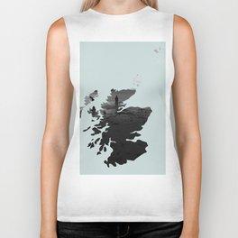 'Wandering' Scotland map Biker Tank