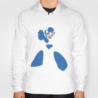mega man Hoodies featuring Mega Man - Minimalist - Nintendo by Adrian Mentus