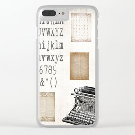 Vintage Office - Writers Block Clear iPhone Case