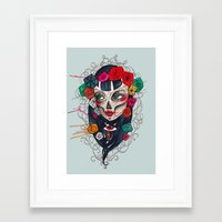 mexican Framed Art Prints featuring Mexican SK by LucreziaU's Illustration