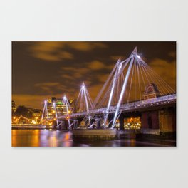 Hungerford bridge in All Its Glory  Canvas Print