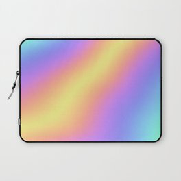 Colorful Gradient Abstract Rainbow Pattern Holographic Foil Laptop Sleeve