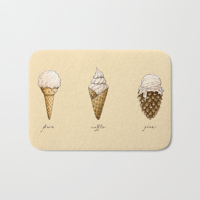 Ice Cream Cones Bath Mat