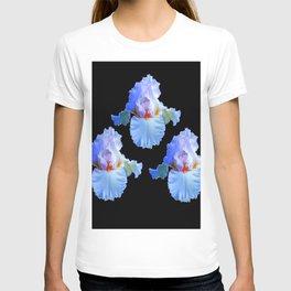 PASTEL BLUISH WHITE IRISES T-shirt
