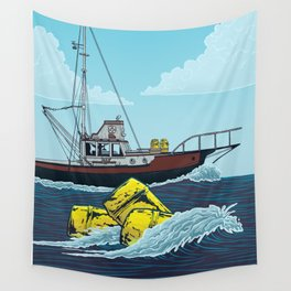Jaws: Orca Illustration Wall Tapestry