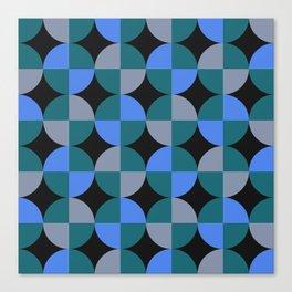 NeonBlu Squares Canvas Print