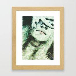 Gazing Beauty Framed Art Print