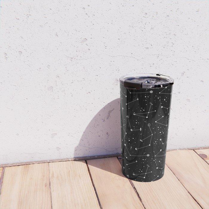 Constellations (Black) Travel Mug