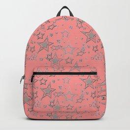 Holiday decor, shiny stars Backpack