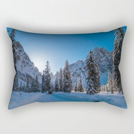Sunny morning in Val Fiscalina Rectangular Pillow