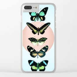 Butterfly parade Clear iPhone Case