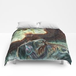 Scorpion Tailed Hawk Comforters