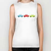 cars Biker Tanks featuring cars by Laura&Co.